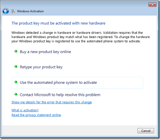 activation windows 7 by phone