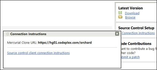 CodePlex Mercurial VCS settings