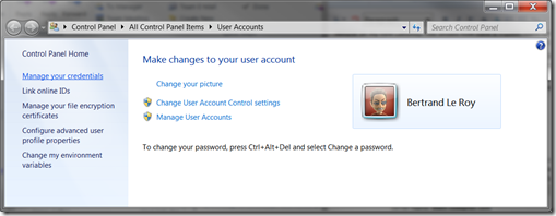 User Account Control Panel