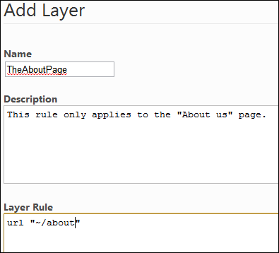 Adding a layer