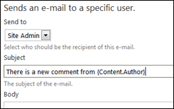 Sending e-mail on comment submission