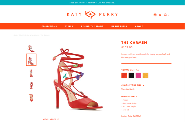 The Katy Perry web site is built with Orchard