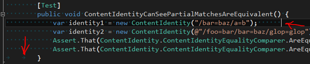 Trailing spaces and tabs are immediately obvious.