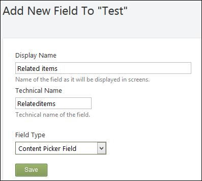 Adding a content item picker field to a content type.