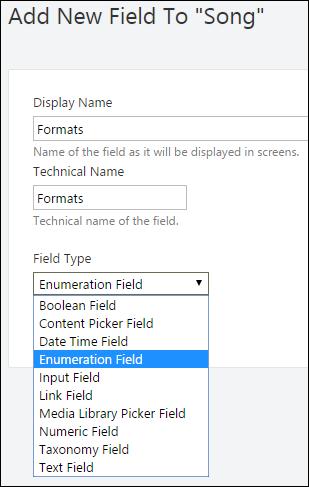 Adding an enumeration field