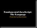 JavaScript: The Language presentation on SlideShare