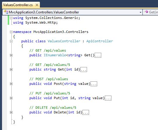 how to create web api in mvc 4