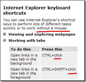 InternetExplorerKeyboardShortcuts