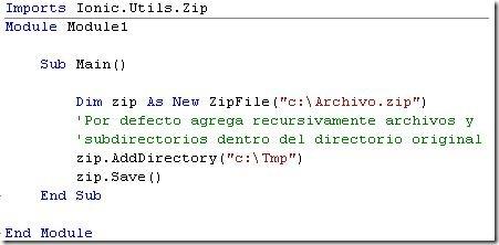 Codigo para crear archivo