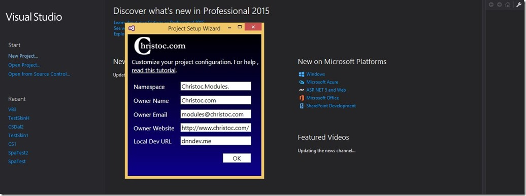 Chris Hammond - New Visual Studio 2015 Templates for DNN, Now With ...