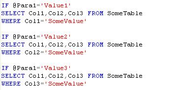 Dynamic where clause in sql statement