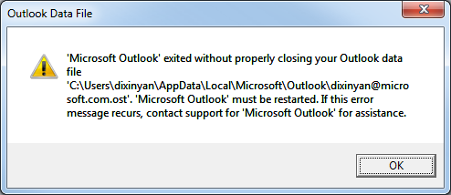 Cannot Open The Outlook Window >> Dixin's Blog - Recover Outlook 2010 from crash