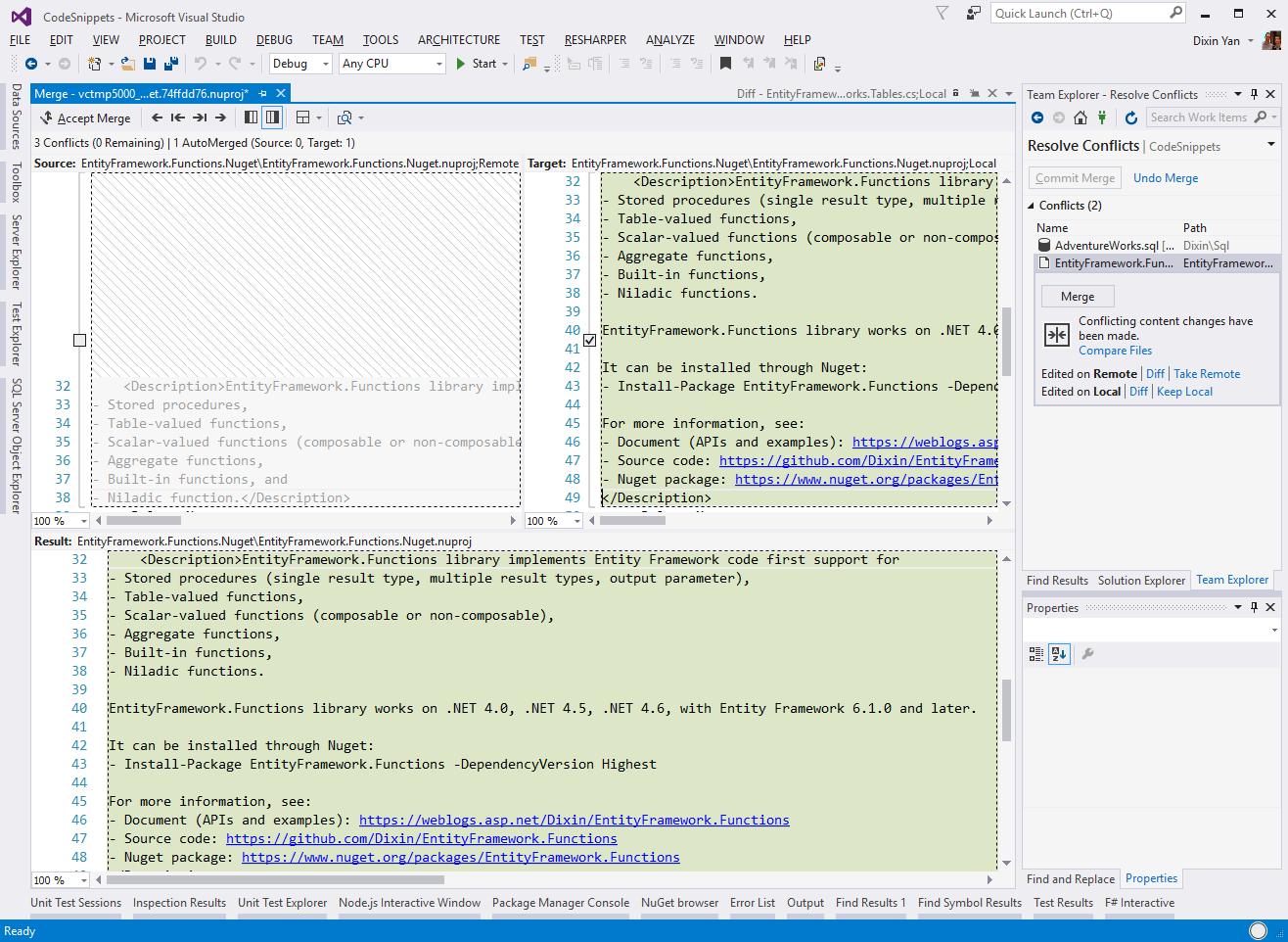 Dixin's Blog - Configure Git for Visual Studio 2015