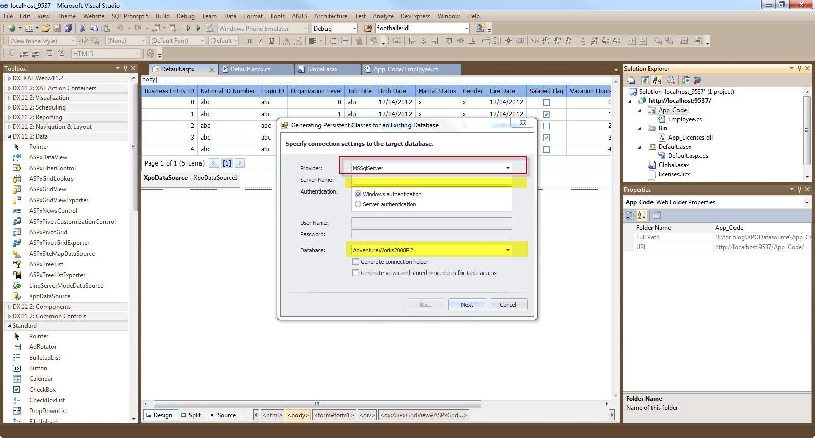 Nikolaos Kantzelis ASP Net Blog - How to bind a XPO Data