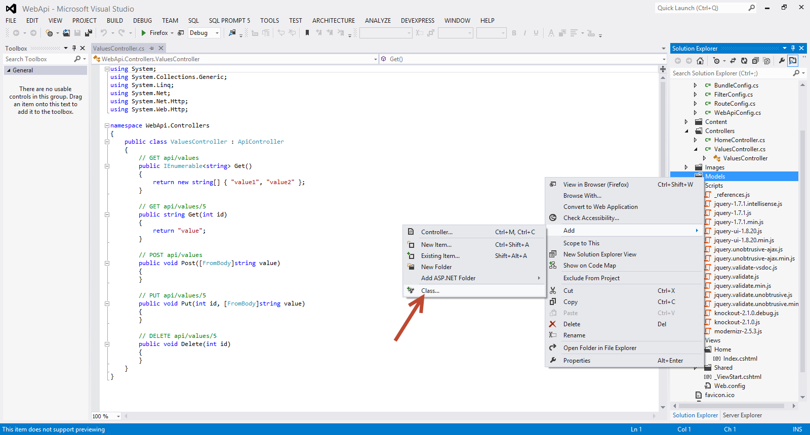 how to call web api in asp net