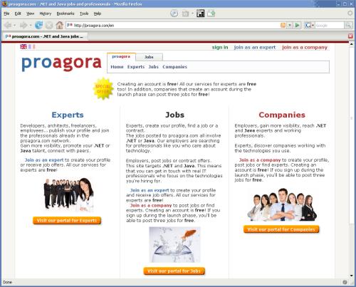 proagora.com home page