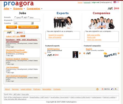 proagora.com English home page