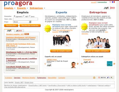 proagora.com French home page