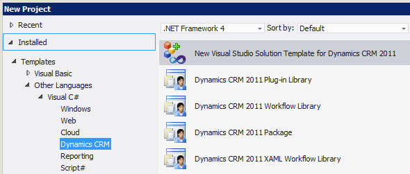 CRM Developer Toolkit on Visual Studio 2012