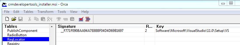 Edit msi files using Orca