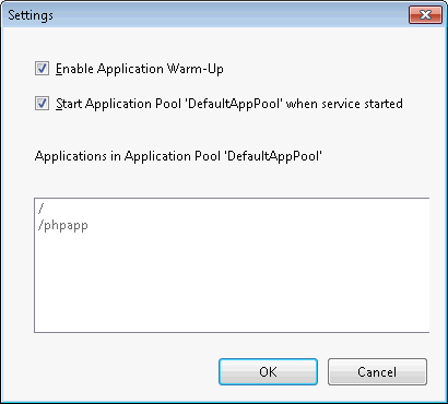 Application Warm-Up: Enable it!