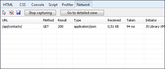 Content negotiation: Response type is application/json