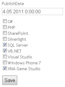 ASP.NET MVC: Output of CheckBoxList