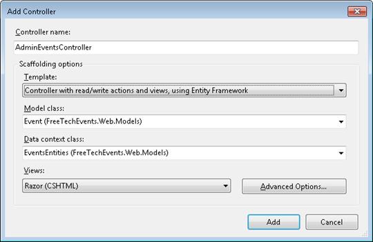 ASP.NET MVC 3: New controller adding dialog