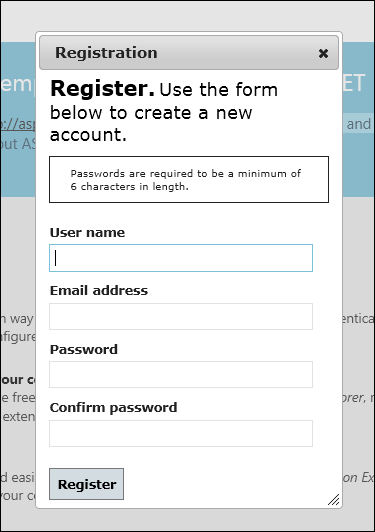 Aspnet Mvc4 Register