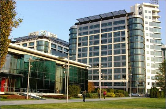 Nice new buildings in Belgrade