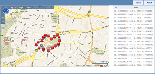 Bing Maps interactive map