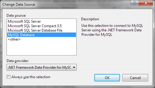 Changing data source