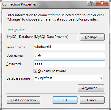 Setting connection properties