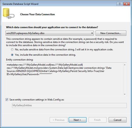 Entity Framework 4.0: Choose Data Connection