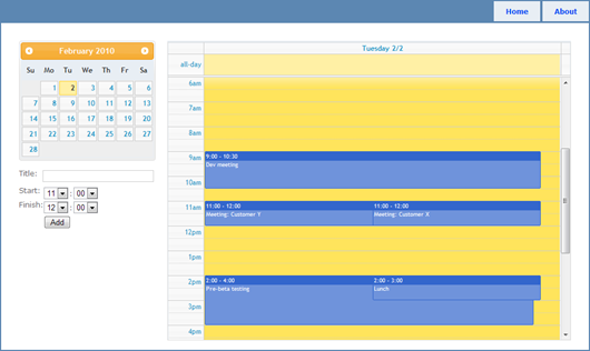 FullCalendar working with jQueryUI DatePicker