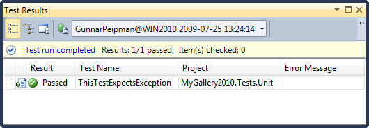 Visual Studio 2010: ExpectedException works with System.Exception