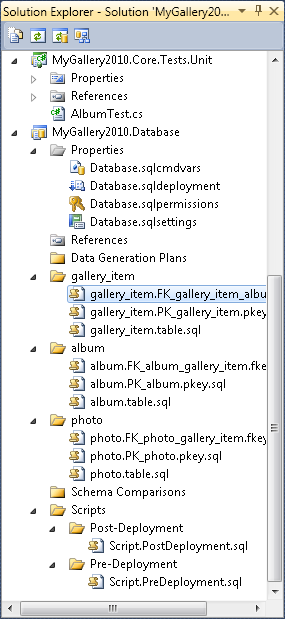 Mygallery2010: Database project