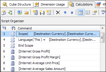 SCOPE definitions in SSAS cube