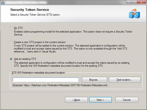 AppFabric Access Control Service: Insert federation metadata URL