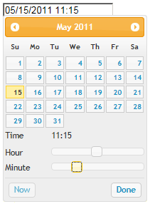 jQuery Timepicker in action
