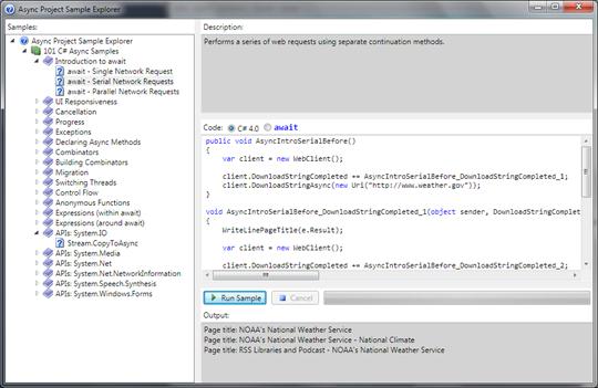 101 Asyncs Sample Application