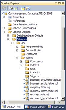 Visual Studio 2010: Database project