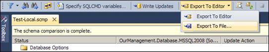 Visual Studio 2010: Export updates to file