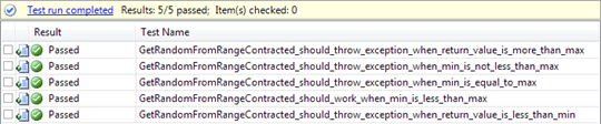 Visual Studio 2010 Code Contracts: all unit tests succeeded