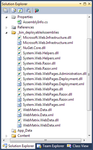 Visual Studio 2010 SP1 Beta: Deployable references for Razor
