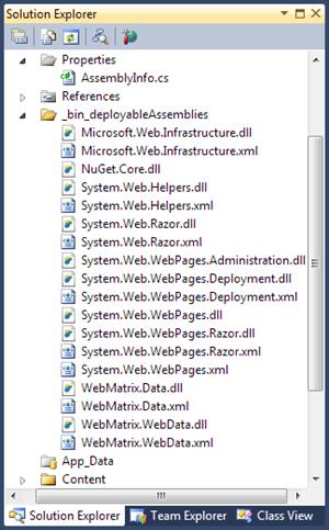 Visual Studio 2010 SP1 Beta: Deployable references for Razor