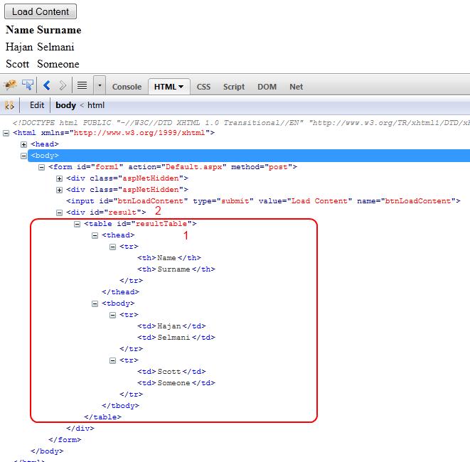 Hajan Selmani - Ajax-based data loading using jQuery load