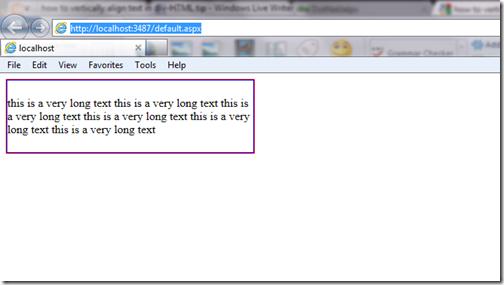 Html align text