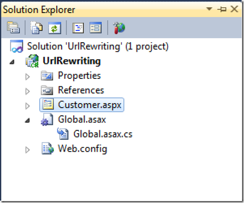 Project for URL rewriting in asp.net 4.0