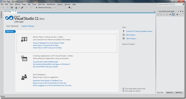 Visual Studio 2011 Beta first review